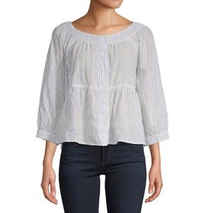 Free People Striped Boatneck Top